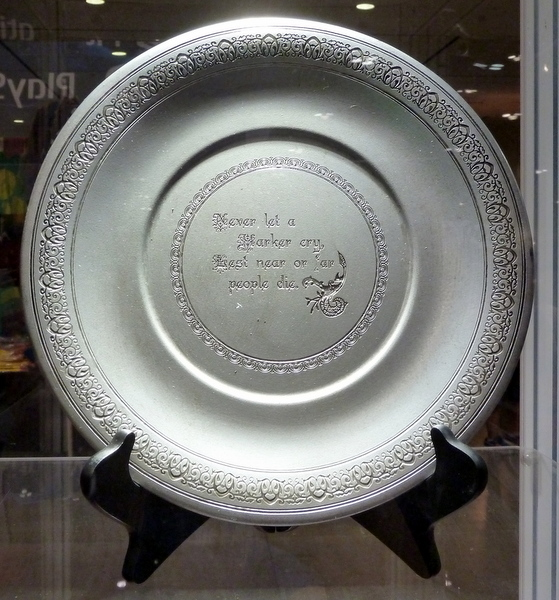 Harker's Heirloom Plate