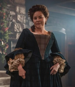 Author Diana Gabaldon in Outlander the TV Show on STARZ, based on her novel Outlander