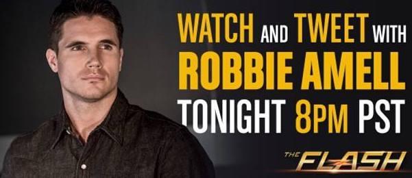 Robbie Amell Live Tweet Flash