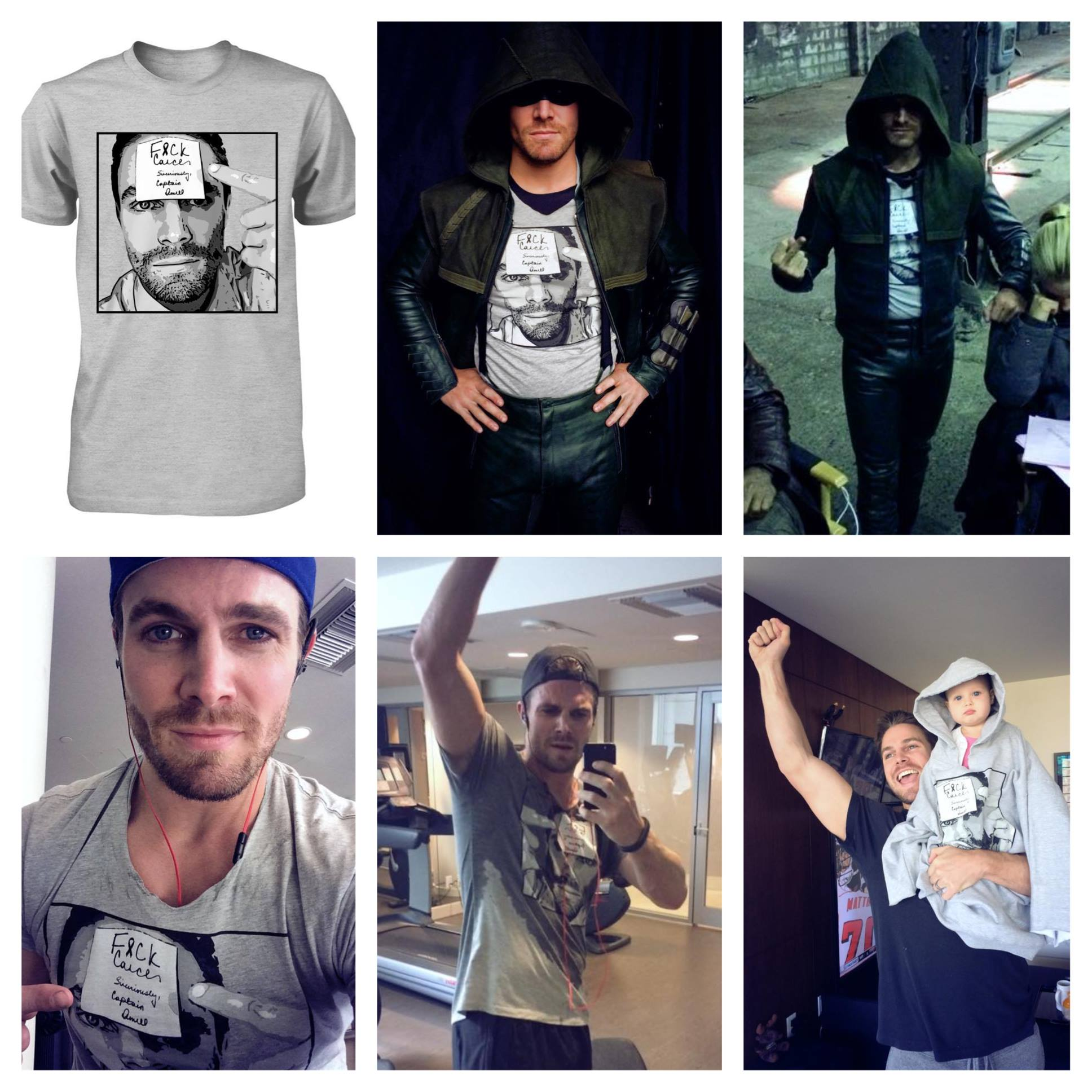 Stephen Amell raised funds, and awareness, for a Cancer Charity throughout September of 2014