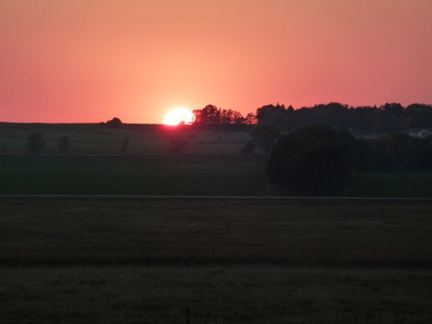 Sun-setting over the Prairie