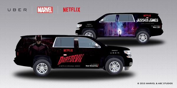 Uber Marvel Netflix Daredevil